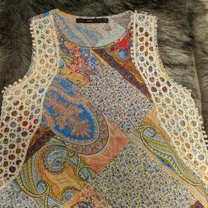 Azel Hazel top, beautiful multicolor pattern top s